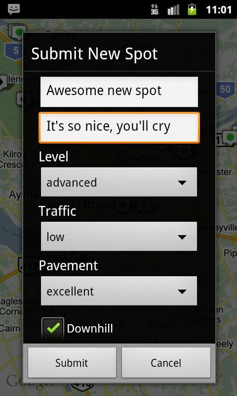 Longboard Spot Finder - screenshot