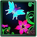 Butterfly Neon Animated LWP icon