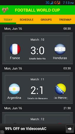 Football World Cup Live Score 1.6 screenshot 58196