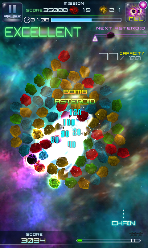 Screenshots of Million Asteroids for iPhone