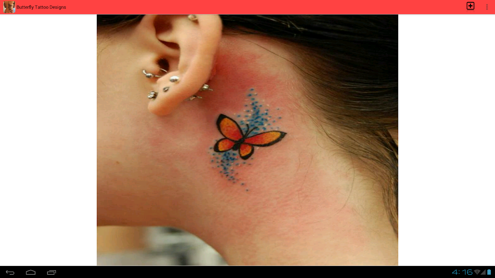 butterfly tattoo designs android apps on google play. Black Bedroom Furniture Sets. Home Design Ideas