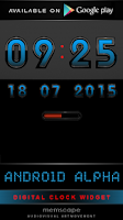 Screenshot of Laser Clock ANDROID ALPHA