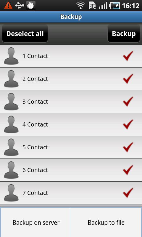 All-In-One Contacts - screenshot