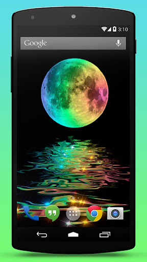 Rainbow Moon Live Wallpaper