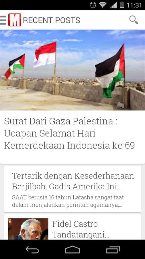 Tren Muslim News- screenshot