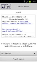 Screenshot of Università Roma TRE