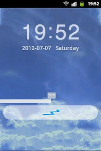 GO Locker Theme Blue Clouds- screenshot thumbnail