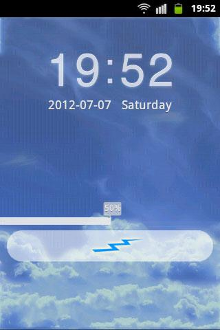 GO Locker Theme Blue Clouds- screenshot