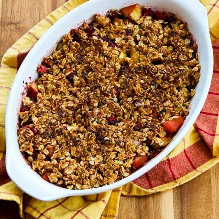 Low-Sugar Gluten-Free Cranberry Apple Crisp Recipe