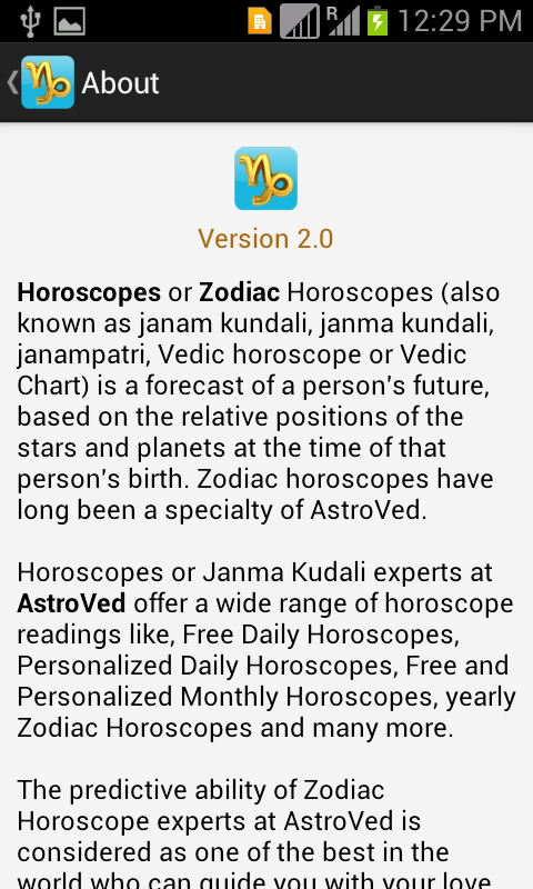 Capricorn Horoscope - screenshot