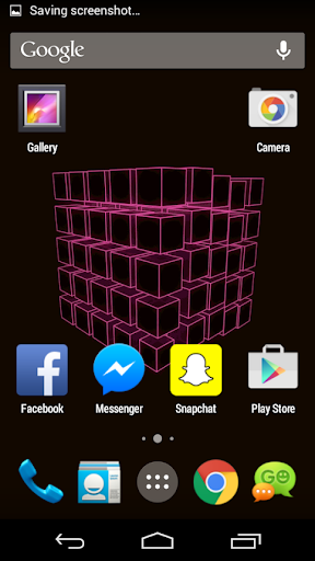 Pink Cube Live Wallpaper