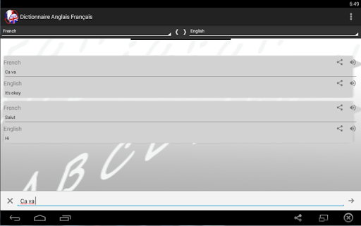 Dictionnaire Anglais Franu00e7ais 2.0 screenshots 9
