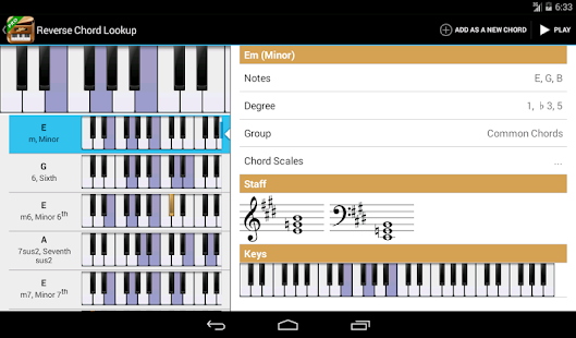 Piano Companion: chords,scales - screenshot thumbnail