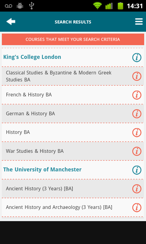 Uni Finder - screenshot