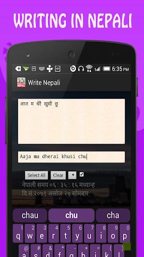 Write Nepali